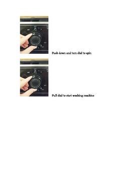 Using a Washing Machine- Photographic Task Analysis