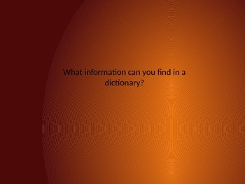 Using a dictionary powerpoint