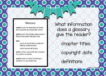 Using a glossary - Boom Cards Interactive Task Cards - Parts of a Book