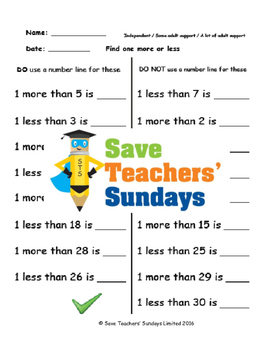 Finding less and more using a hundred square lesson plans, worksheets and more