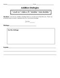 Using addition strategies worksheet