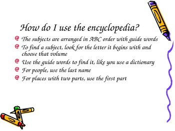 Using an Encyclopedia Lesson and Activity by KMediaFun