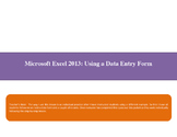 Using an Excel 2013 data form- a Microsoft Office lesson