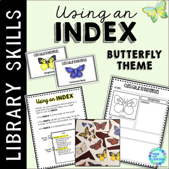 Index in the School Library Media Center: Butterfly Theme
