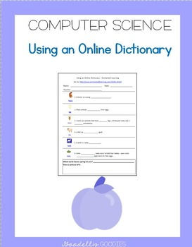 Using an Online Dictionary_First and Second