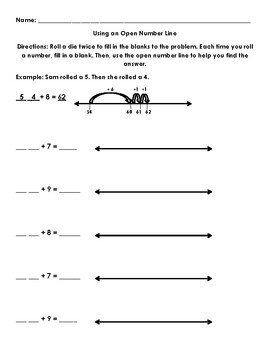 Using an Open Number Line to Add Tens and Ones