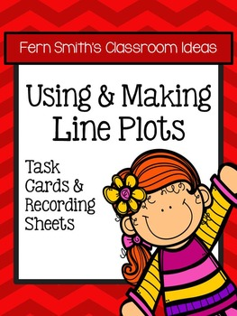 3rd Grade Go Math 2.7 Using and Making Line Plots Task Cards