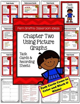 3rd Grade Go Math 2.2 and 2.3 Using and Making Picture Graphs Task Cards Bundle