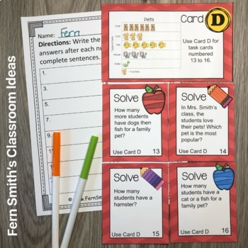 Using and Making Picture Graphs Task Cards Bundle