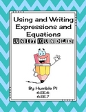 Using and Writing Expressions and Equations Bundle- 6.EE.6, 6.EE.7