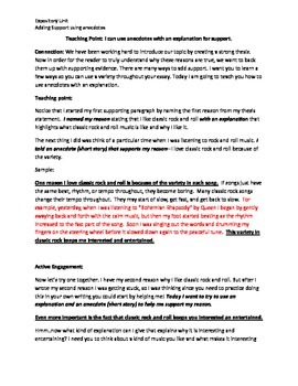Using anecdotes in Expository Writing