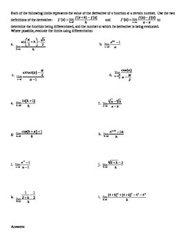 Using derivatives to evaluate limits