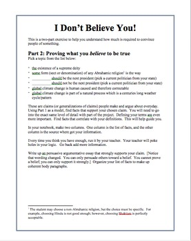 Using evidence to support claims