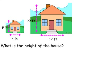 Using fractions to calculate scaled objects