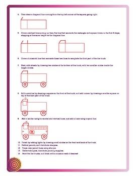 Using geometric shapes to make a Firetruck.