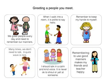 Social Story: Using good manners when I meet people