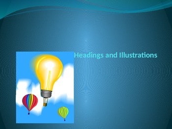 Using headings and Illustrations in NonFiction Text