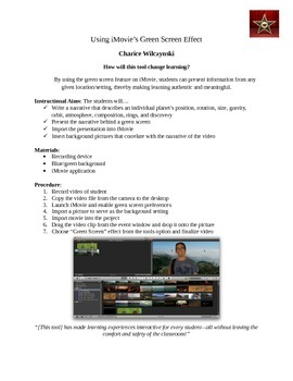 Using iMovie's Green Screen Effect