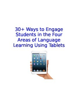 Spanish Class iPad Activities Organized by Reading Writing Listening Speaking