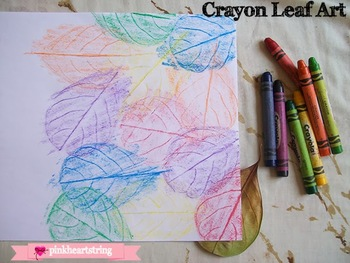 Using leaves for fine motor and dexterity