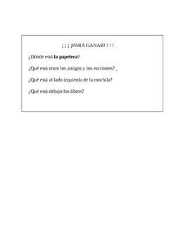 Using location words (al lado, delante, etc..) to place things / Realidades 1 2b