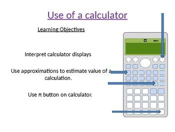 Using of a Calculator Lesson