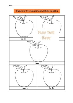 Using our five senses to investigate apples
