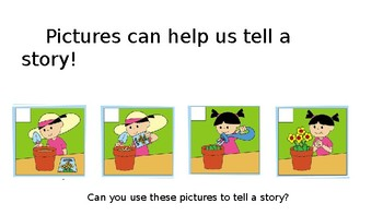 Using pictures to tell the story!