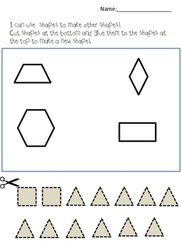 Using shapes to make new shapes