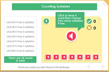 Using syllables