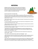 Using textual evidence to create a setting