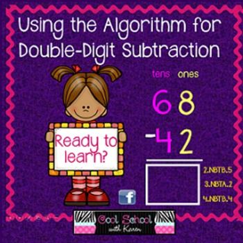 Using the Algorithm for Double Digit Subtraction Slideshow {CCSS}