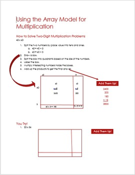 Using the Array Method for Multiplication