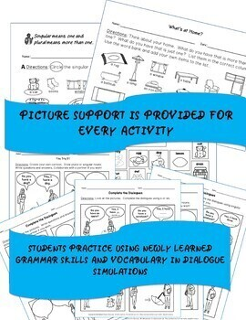 ESL EFL Grammar Articles A and An Worksheets with Picture Support
