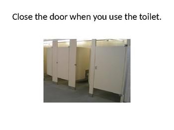 Using the Bathroom Wiping Social Skills Story