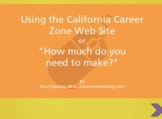 Using the CA Career Zone web site for career exploration #nplsimulation