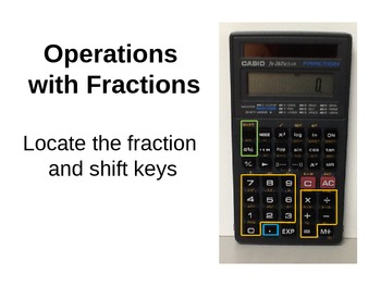 Using the Casio fx-260 Solar Calculator Powerpoint
