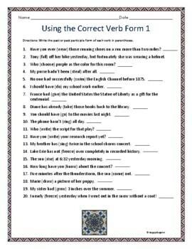 grammar and correct usage test pdf