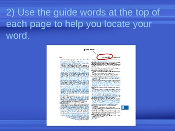 Using the Dictionary