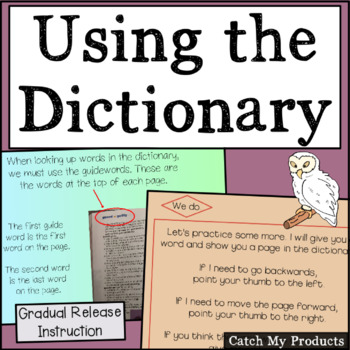 Dictionary Skills : Using the Dictionary in Power Point