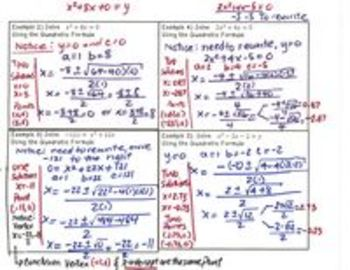 Quadratic Equations - Lesson 7b -using the Discriminant (alt)