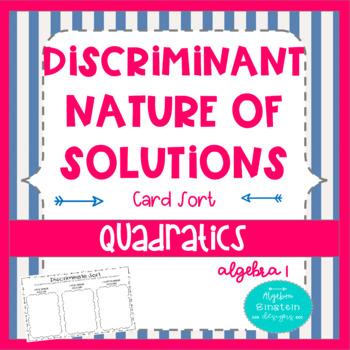 Solving Quadratics- Discriminate