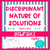 Solving Quadratics- Discriminate