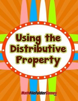 Using the Distributive Property {Mental Math Activity}