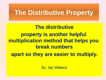 Using the Distributive Property to Solve Multiplication Problems