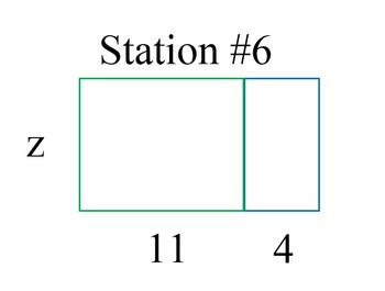 Using the Distributive Property to Write Expressions for Area of a Rectangle