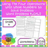 Using the Four Operations with Whole Numbers to Solve Word