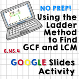 Using the Ladder Method to Find GCF/LCM - Google Slides Ac