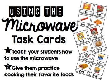 Using the Microwave Life Skills Task Cards