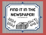 Using the Newspaper for Common Core Non-Fiction Text